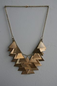 Triangle Cascade Necklace by LauraLombardiJewelry on Etsy