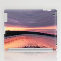 Sunset Ocean Wave Abstract iPad Case by Bebop's Place