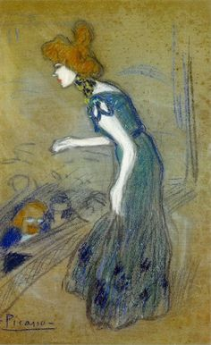 Pablo Picasso, 1901 La diseuse