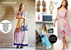 """Trend: The Mosaic Maxi""""     Pairing up the """"Mosaic Maxi"""" for the perfect look with Ritu Kumar this season."""