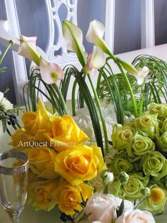 San Diego, Coronado, Del Mar, Wedding Florist and Planner | Indian Wedding Planner and Florist: Bright Pave Design | Vibrant Short Centerpiece.