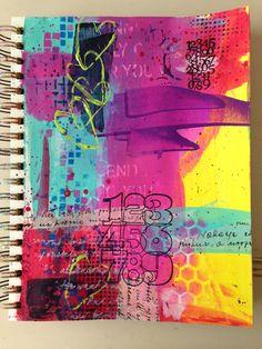 Art journal page by Vicki Bridges