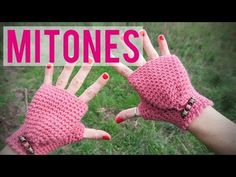 Mitones de ganchillo   Fingerless gloves   Mittens - YouTube
