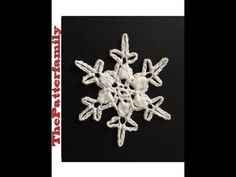 How to Crochet a Snowflake Pattern #13│by ThePatterfamily - YouTube