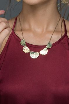» Stella Necklace Gold or Silver Paisley + Sparrow