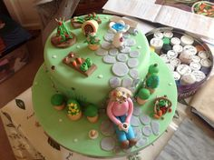 80 th gardening birthday cake