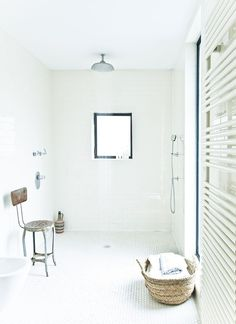 Mine would be quite a bit smaller, and the composting toilet would be not far from the shower. But I like the tile and general feel of this wetroom.