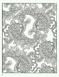 Paisley Coloring Pages Designs Book Dover Publications