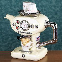 British teapot white expresso