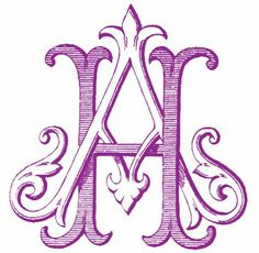 Custom Printables - Antique and Engraved Monograms - Durham, NC