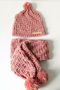 Gehaakte sjaal met reliëfsteek (gratis patroon)
