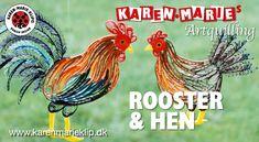 Rooster & Hen Art Quilling