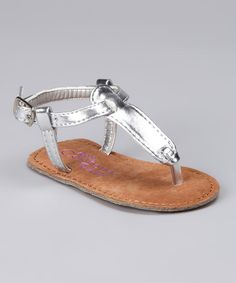 Angels Couture Silver Patent T-Strap Sandal by Angels Couture #zulily #zulilyfinds