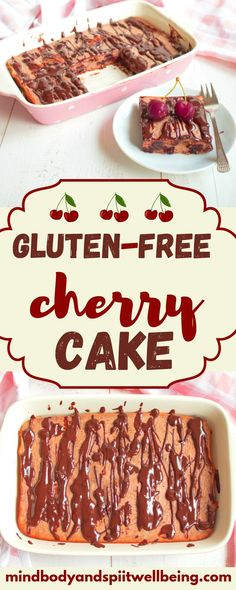 Need more gluten-free recipes like this wheat-free cherry cake? Here is my ultimate gluten-free dessert recipe cookbook! Cookbook Recipes, Beef Recipes, Real Food Recipes, Dessert Recipes, Cupcake Recipes, Healthy Recipes, Gluten Free Snacks, Gluten Free Breakfasts, Dairy Free Recipes