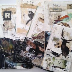 """320 Likes, 9 Comments - Tina Jensen (@tinajensenart) on Instagram: """"5 journal covers , ready to be bound #newjournals #sketchbooks #artjournals"""""""