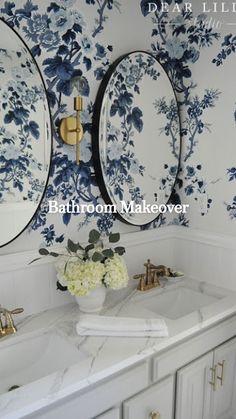 Modern Bathroom Design, Bathroom Interior, Modern Bathrooms, Blue Bathrooms, Modern Sink, Bathroom Designs, French Bathroom Decor, Farmhouse Bathrooms, Dream Bathrooms