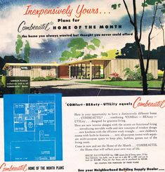 Combeutiful Home of The Month, April 1956. Repinned by Secret Design Studio. www.secretdesignstudio.com