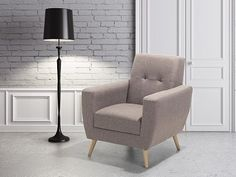 Világosszürke kárpitozott fotel - HERNING
