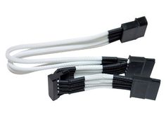 NZXT CB 43SATA-W Singled Sleeved 4-Pin Molex to 3 SATA Premium Connector Cable (White) by Nzxt. $9.93. NZXT Premium Individually Sleeved Cables can be the final 'finishing touch' to your new build. Individually sleeved in a white enclosure to provide a sleeker look that seamlessly integrates into the case's interior. The additional benefit from incorporating these premium sleeved cables into your rig is enhanced cable management which is crucial for optimal airflow.