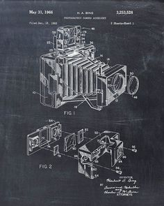 Patent Print of a Camera Patent Art Print Patent by VisualDesign, $6.95