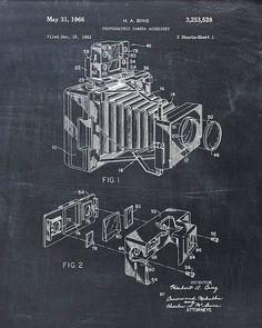 Patent Print of a Camera Patent Art Print Patent by VisualDesign, $6.95
