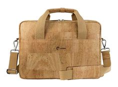 Elegant #Briefcase PORTELA made of #cork #leather, suitable for any #laptop up to 15'' | 100% #sustainable & #vegan | CHF 219.00 | free delivery & return within Switzerland
