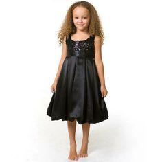 black sparkle flower girl dress