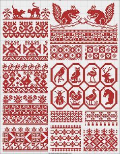 great old Russian charted patterns