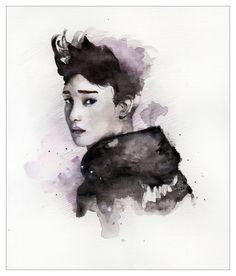 ChenExo!! inspirated Portrait by YoYomiyoko on Etsy, $17.00
