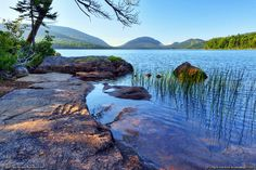 Eagle Lake in Bar Harbor, Maine and Acadia National Park