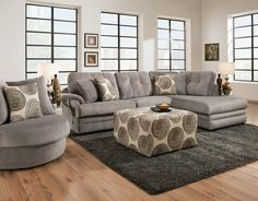 Knockout 2 Piece Sectional In Knockout Grey 16B3LF Left Facing Sofa L84  D42  : city furniture sectionals - Sectionals, Sofas & Couches