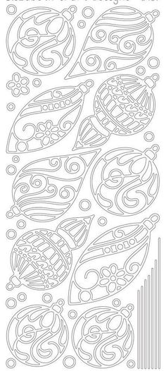 Stencils overlaid on colored paper Christmas Ornaments Peel-Off Stickers-Gold By Elizabeth Craft Designs Noel Christmas, Christmas Colors, All Things Christmas, Christmas Decorations, Printable Christmas Ornaments, Gold Ornaments, Christmas Patterns, Silver Christmas, Beaded Ornaments