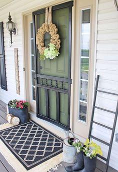 56 best farmhouse front porch decor ideas