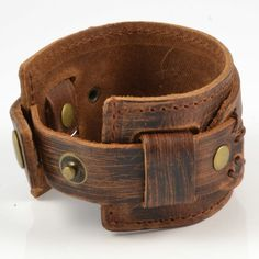 Buy Collin Rowe - Brown Rawhide Leather Bracelet for only Shop at Trendhim and get returns. We take pride in providing an excellent experience. Leather Wallet Pattern, Sewing Leather, Leather Crafting, Bracelet Cuir, Curtido, Mens Fashion Shoes, Leather Jewelry, Leather Working, Bracelets For Men