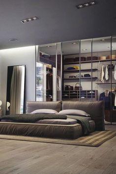 bedroom designs men cool modern bedroom design for men luxury bedroom design nighslee mattress Closets Pequenos, Bachelor Bedroom, Bachelor Pads, Luxury Bedroom Design, Bedroom Designs, Luxury Decor, Suites, Design Moderne, Luxurious Bedrooms