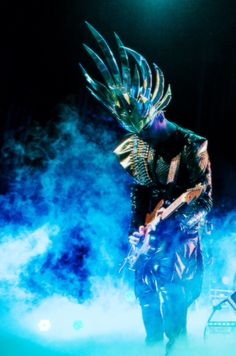 Luke Steele of Empire of the Sun performing one of their many hits on tour.