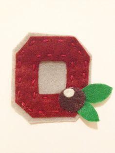 Ohio State Buckeyes Felt Block O Pin-OSU. $5.00, via Etsy.
