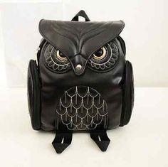 Women Owl PU Leather Travel Bags School Book Bag Satchel Shoulder Backpack | eBay