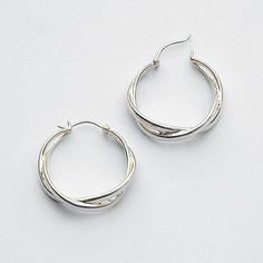 classic infinity hoop earrings on redenvelope