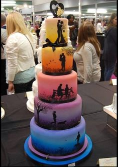 Want this wedding cake! Such a cute idea. I'd change it up of course