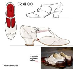 American Duchess shoes in production. YES!!! Also for pre-order are the Astoria Edwardian which were worn from 1900-1915, quite lovely.