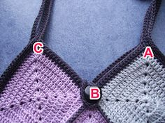 Crochet et tricot facile avec explications: Sac crochet 22 carrés Crochet Purse Patterns, Crochet Purses, Crochet Hats, Filet Crochet, Crochet Stitches, Chanel Boy Bag, Crochet Bikini, Crochet Necklace, Creations