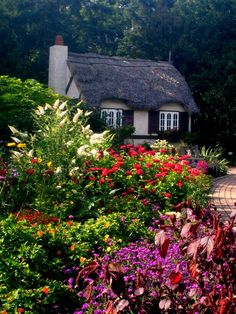 English Thatched Cottage. Beautiful gardens!