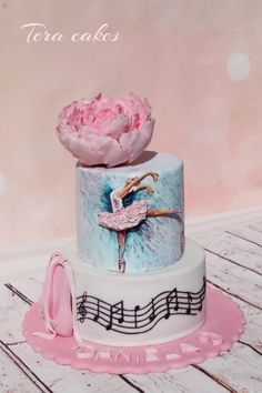 hand painted cake for ballerina