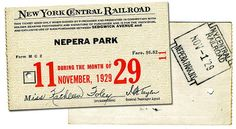 New York Central Railroad monthly pass, November 1929 New York Central Railroad, Trains, November, Park, History, November Born, Historia, Parks, Train