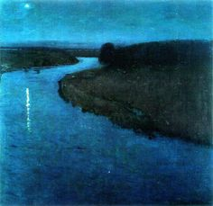 Eugen Bracht The Star in the New Year Night, 1899  catonhottinroof