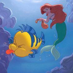 You're such a guppy Disney Dream, Disney Love, Disney Magic, Disney Songs, Disney Art, Walt Disney, Ariel Disney, Real Mermaids, Mermaids And Mermen