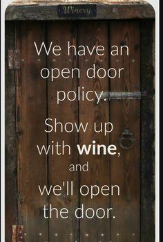 Open door / wine
