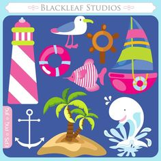 Nautical Fun  sea whale waves ship yatch boat by blackleafdesign, $5.00