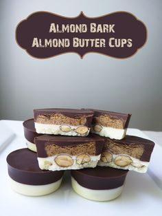 Swoon For Food: Almond Bark Almond Butter Cups